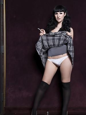 Stunning Bailey Jay posing as a kinky schoolgirl